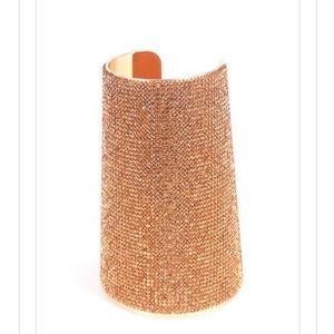 Jewelry House   Sparkling Gold Half Arm Cuff